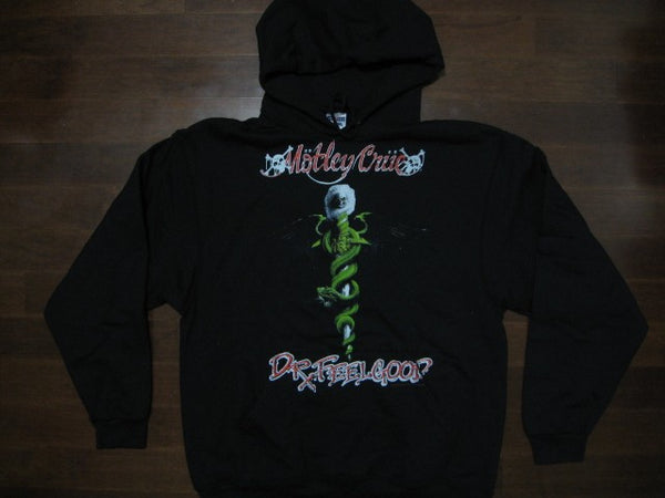 Motley Crue -Dr. Feel Good - Hooded Sweatshirt.Two Sided Print