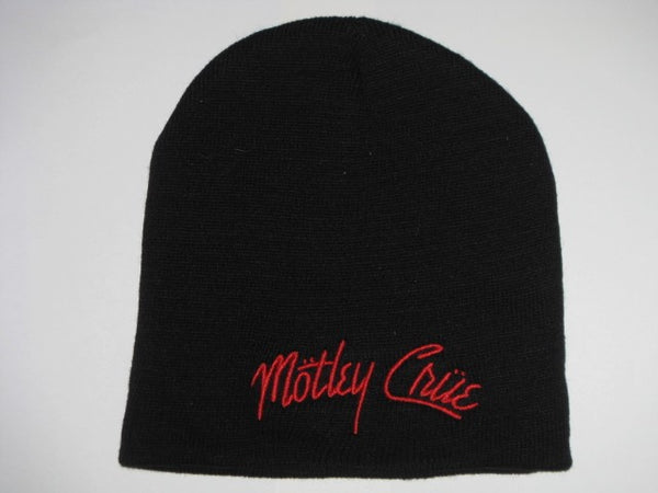 MOTLEY CRUE -Embroidered  - Logo Beanie