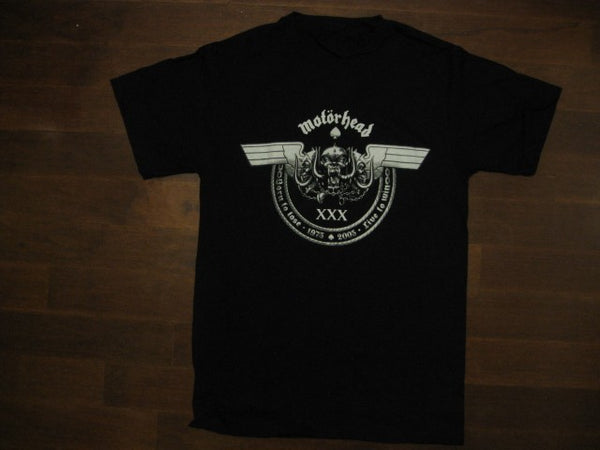 Motorhead - 30th Anniversary Tour - Chained Skull logo -Printed Front & Back- T-shirt
