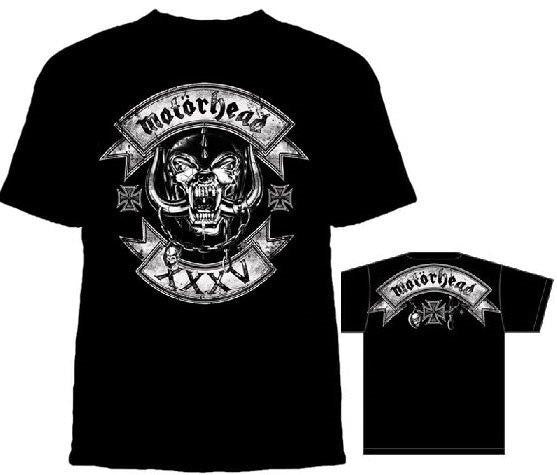 Motorhead - SKULL LOGO WITH ROCKERS - T-shirt