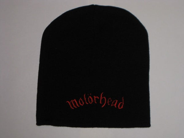 Motorhead - Embroidered Red -  Logo Beanie