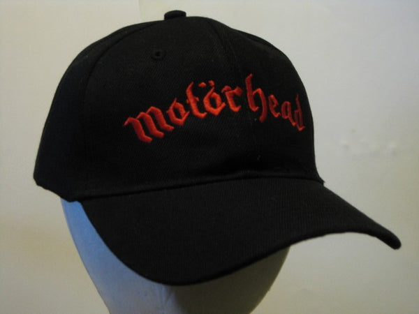 MOTORHEAD - Embroidered - Baseball Cap - Velcro Strap, One Size Fits All