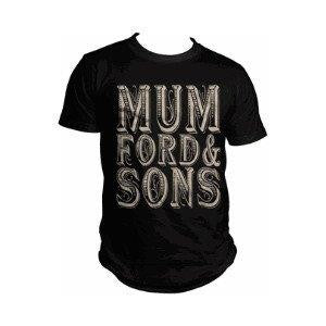 MUMFORD & SONS-‏ Stacked Scroll Logo- T-Shirt