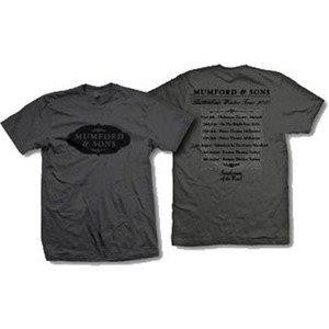 MUMFORD & SONS‏ -Plaque Logo - Tour 2010 - T-Shirt