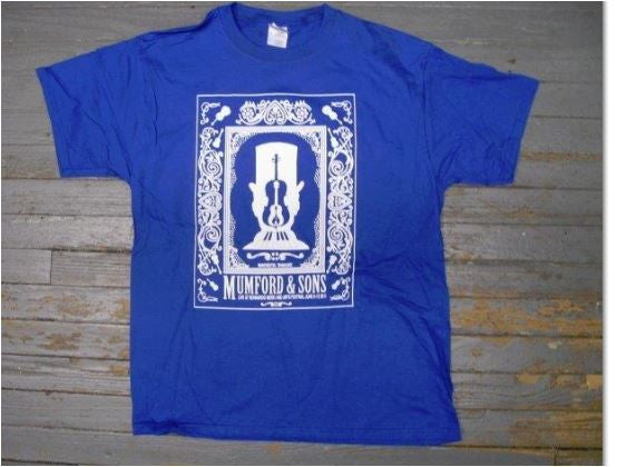 Mumford & Sons 2011 Tour Shirt Royal Blue  T-Shirt