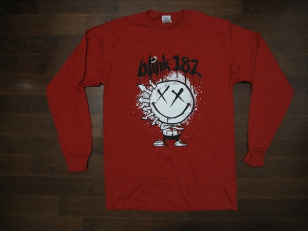 Blink 182 - Rare- Smiley Logo - Long Sleeve Shirt