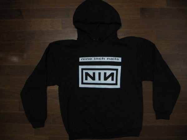 NINE INCH NAILS / Logo And Group Photo / Hooded Sweatshirt - Front And Back Print