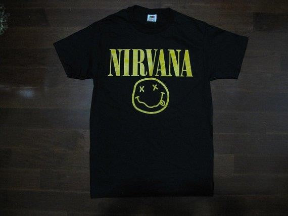 NIRVANA- SMILEY FACE -T Shirt