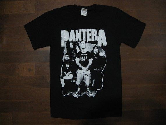 PANTERA- Group Picture / Terry Glaze - Vintage -Two Sided Printed - T-shirt