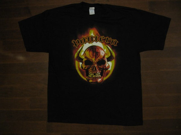 PANTERA- Devil Skull- Rare Vintage - T-shirt - Two Sided Print
