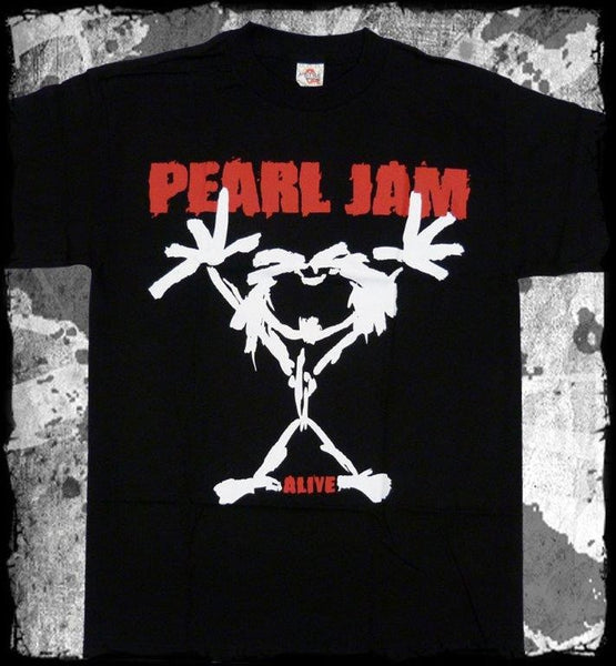 PEARL JAM-Stickman ( ALIVE )  T-shirt  - TWO SIDED PRINT