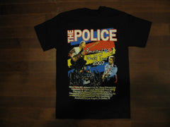 POLICE- Rare 2007 Tour -T-Shirt. Two Sided Print
