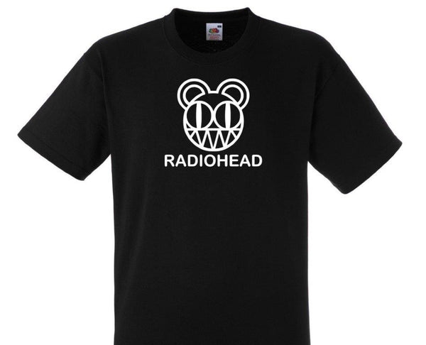 RADIOHEAD -‏ Black & White Scary Bear Logo- T-SHIRT