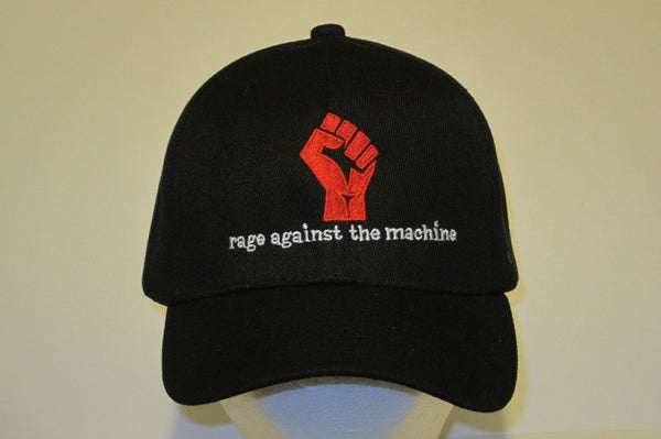 RAGE AGAINST THE MACHINE-  Embroidered Baseball Cap. One Size Fits All. Velcro Back.Unisex