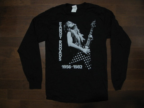 RANDY RHOADS - Vintage Two Sided Print Long Sleeve Shirt