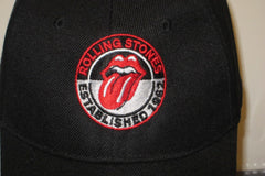 ROLLING STONES Classic Toungue Logo.  - Embroidered Baseball Cap - One Size Fits All. Velcro Back.Unisex