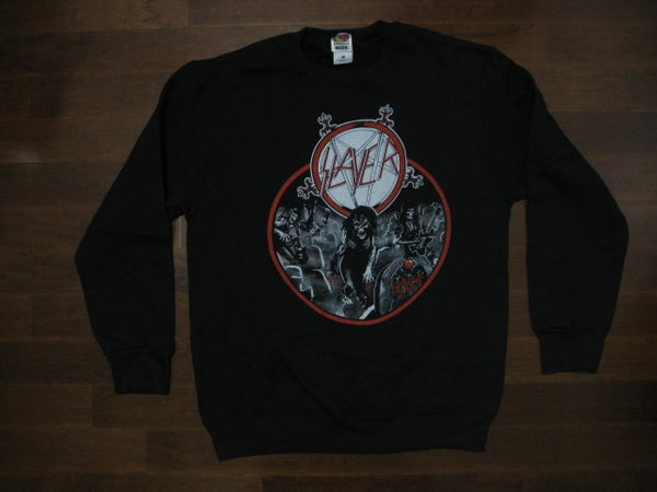 SLAYER - REIGN IN BLOOD- SWEATSHIRT -Two Sided Print.