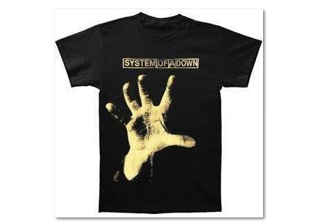 SYSTEM OF A DOWN-Logo Above Self Titled CD -T-shirt