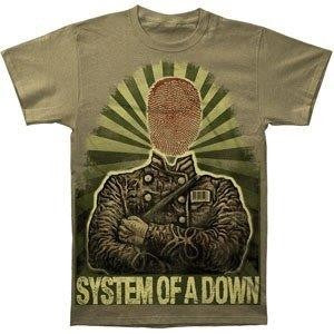 SYSTEM OF A DOWN /  Fingerprint  - T-shirt