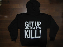 White Zombie- Get Up And Kill - Hoodie - Two Sided Print