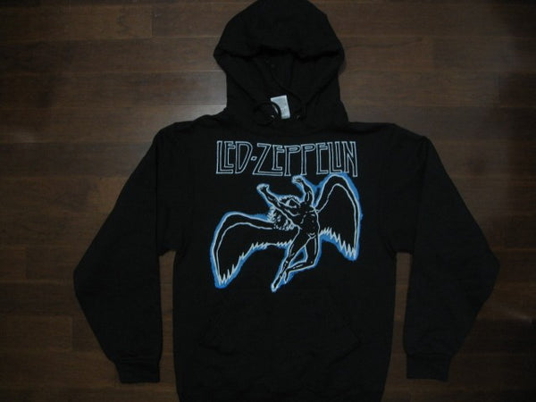 Led Zeppelin- SWAN SONG- Hooded Sweatshirt -Blue and White print