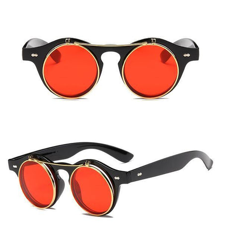 RETRO CLAMSHELL STEAMPUNK SUNNIES