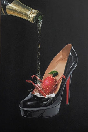 Champagne Shoe by Michael Godard