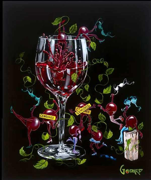 Grapes Gone Wild by Michael Godard