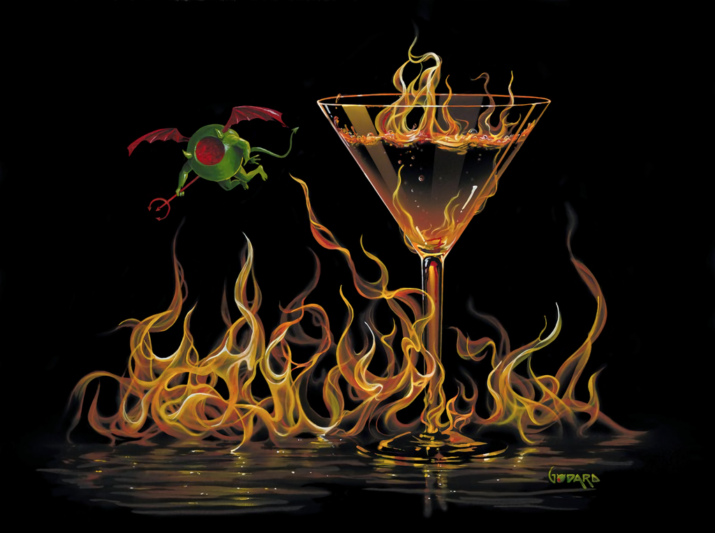 Hell of A Martini by Michael Godard