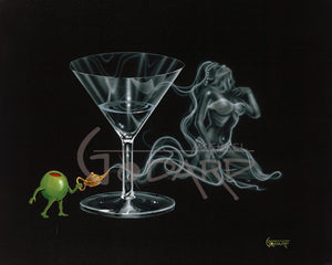 I Dream of Martini Genie by Michael Godard