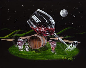 Moonlight Golf by Michael Godard