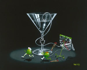 Nursing a Martini 2 by Michael Godard