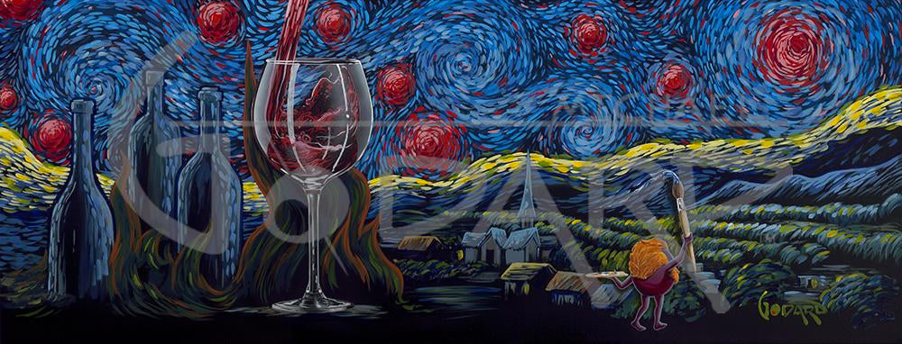 Starry Starry Wine by Michael Godard