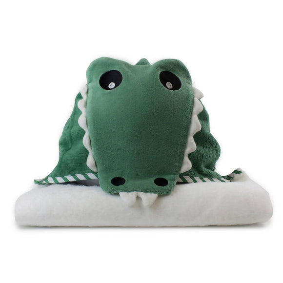 Bubba Blue Aussie Animals Novelty Hooded Bath Towel – Crocodile