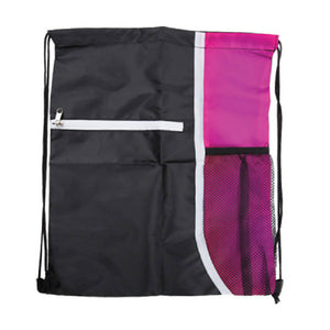 Adventure World Drawstring Bag With Pocket And Side Netting (Pink) - WERONE