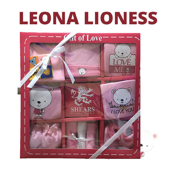 Shears Gift Set Bobblies 10 PCS Gift Set Leona the Lioness SGB10P