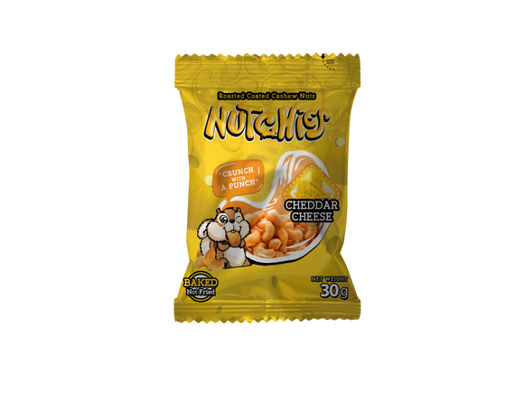 Nutchies Cheddar Cheese 30g
