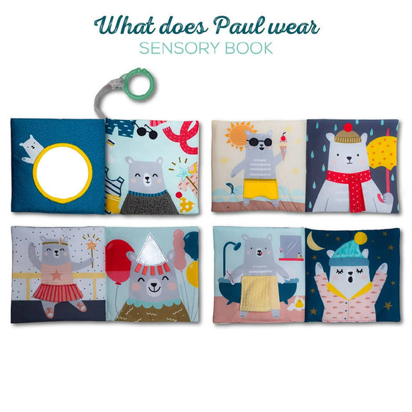 TAF TOYS WHAT DOES PAUL WEAR BOOK