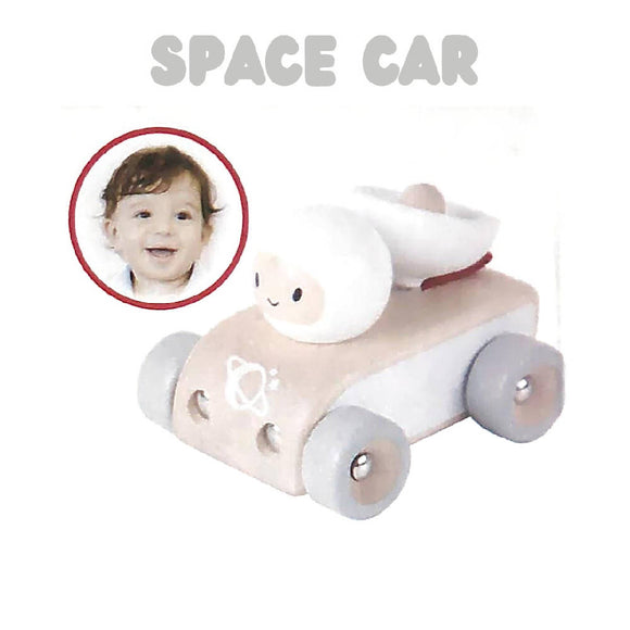 Shears Baby Toy Wooden Toy Space Car White SWTSC
