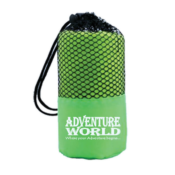 Adventure World Microfibre Bath Towel (Green) - WERONE