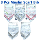 Shears Bib 3Pcs Baby Muslin Bib Mini Triangle Set 3BM3T