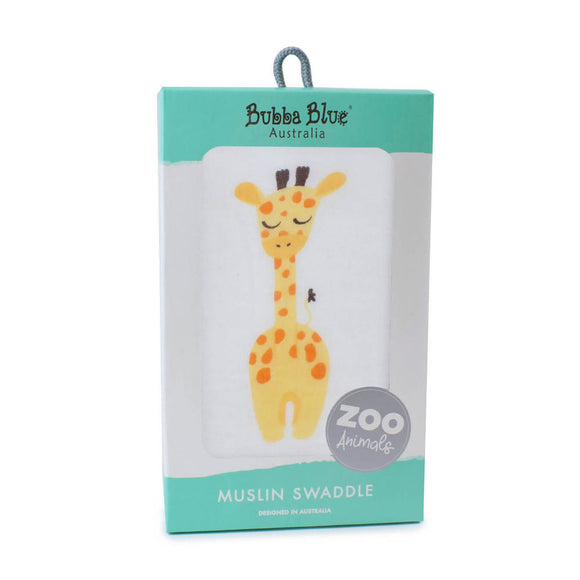 Bubba Blue Zoo Animals 'Giraffe' Muslin Wrap