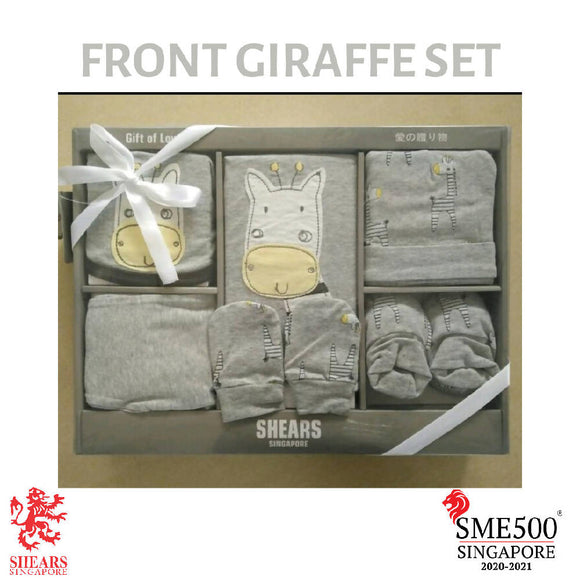 Shears Muji Gift Set 6 PCS Gift Set Grey Front Face Giraffe SGM6G1