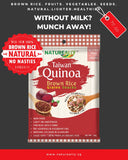 Value Pack Of 6x35g NATUREALLY™ Brown Rice and Red Quinoa Grains Snacks Cereal (Gluten Free) - WERONE