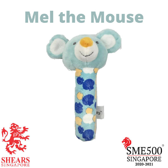 Shears Animal Squeaker Toy Mel the Mouse