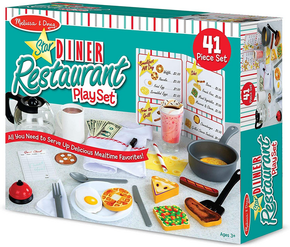 Melissa & Doug Star Diner Restaurant Play Set House, 41 Piece - WERONE