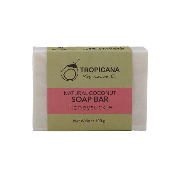 Tropicana Organic Cold Pressed ( Application) Natural Coconut Oil Soap Bar - Honeysuckle - 100g - WERONE