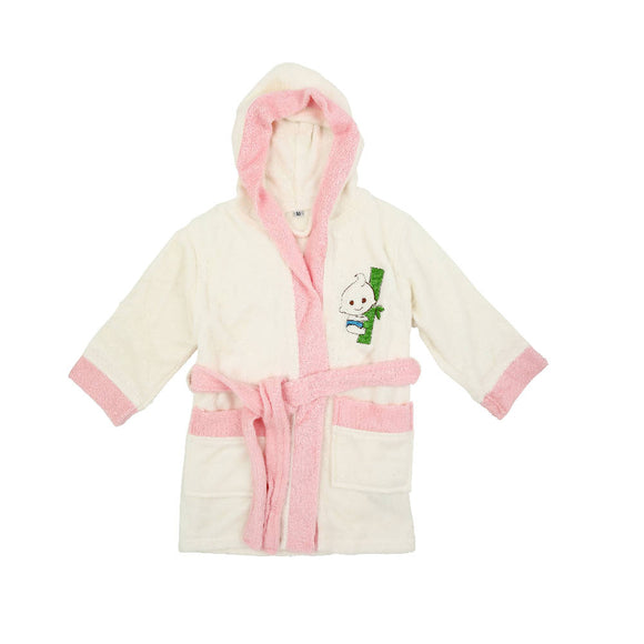 Bebe Bamboo Bathrobe - White/Pink (3-5YRS) - WERONE