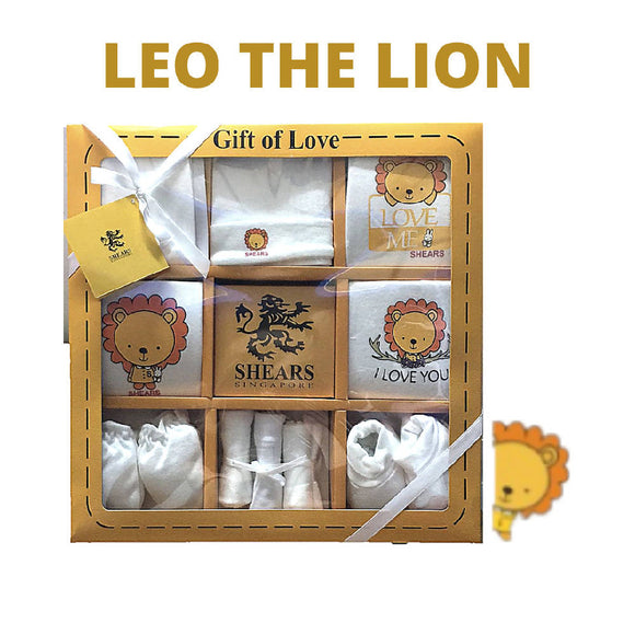 Shears Gift Set Bobblies 10 PCS Gift Set Leo the Lion SGB10Y