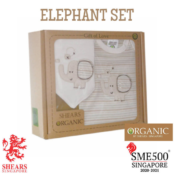Shears Gift Set Organic 2 PCS GiftSet Elephant SGO2PCE